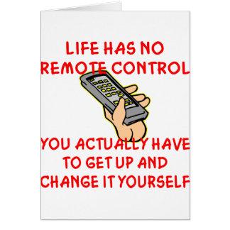 La vie n'a aucun changement à télécommande il vous cartes