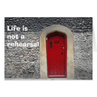 La vie n'est pas une carte de répétition