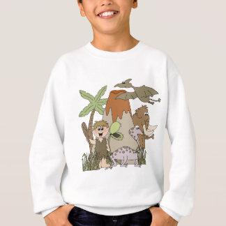 La vie préhistorique de garçon sweatshirt