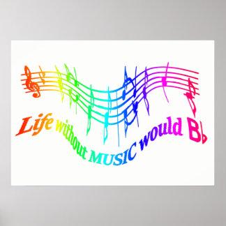 La vie sans musique citation inspirée de BFlat Posters