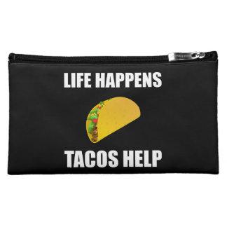 La vie se produit aide de tacos moyenne trousse de maquillage