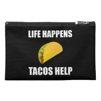 La vie se produit aide de tacos pochette de voyage
