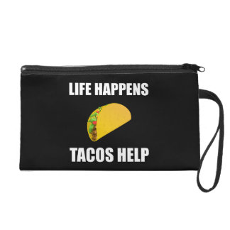 La vie se produit aide de tacos pochettes avec dragonne