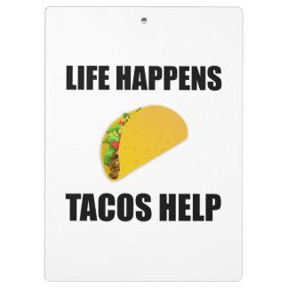 La vie se produit aide de tacos porte-bloc