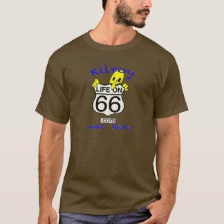 La vie sur 66 Kilroy était ici brun de T-shirt