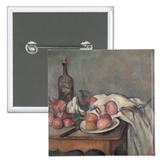 La vie toujours aux oignons, c.1895 badge carré 5 cm