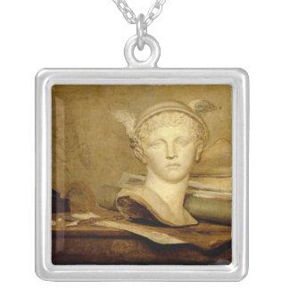 La vie toujours avec des attributs des arts, 1765- pendentif carré