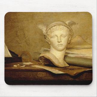 La vie toujours avec des attributs des arts, 1765- tapis de souris