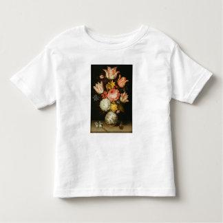 La vie toujours avec des fleurs t-shirt pour les tous petits