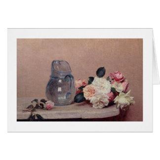 La vie toujours avec des roses, 1889 (huile sur la carte de vœux