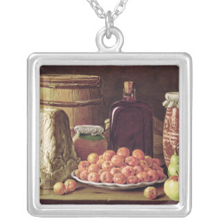 La vie toujours avec le fruit et le fromage pendentif carré