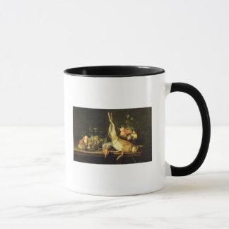 La vie toujours avec le jeu et le fruit mug