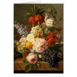 La vie toujours avec les fleurs et le fruit, 1827 carte de vœux