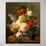 La vie toujours avec les fleurs et le fruit, 1827 poster