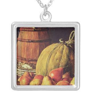 La vie toujours avec les poires, le melon et le ba pendentif carré