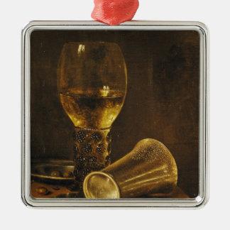 La vie toujours avec un gobelet, 1653 ornement carré argenté