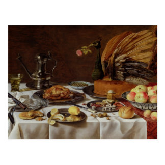 La vie toujours avec un tarte de paon, 1627 cartes postales