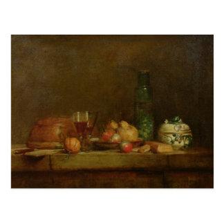 La vie toujours avec une bouteille d'olives, 1760 carte postale