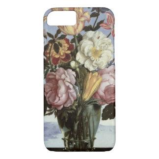 La vie toujours des fleurs dans un verre de coque iPhone 7