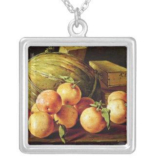 La vie toujours des oranges, des melons et des boî pendentif carré