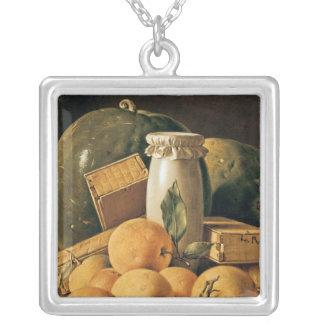 La vie toujours des oranges, pastèque pendentif carré