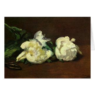 La vie toujours, pivoine blanche par Edouard Manet Carte De Vœux