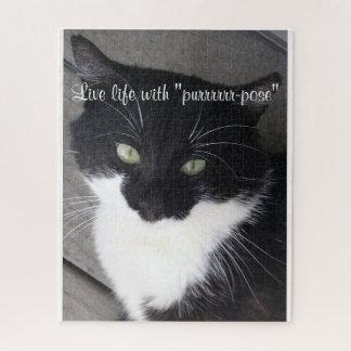 La vie vivante avec le puzzle de chat de