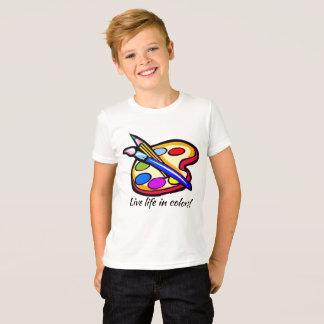 La vie vivante dans le T-shirt de garçons de