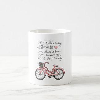 la vie vol25 est comme monter une bicyclette mug