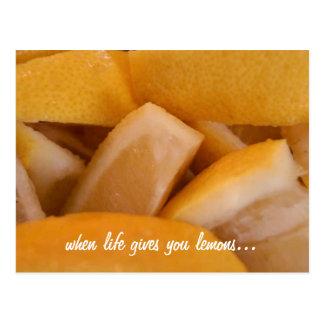 la vie vous donne la carte postale de citrons