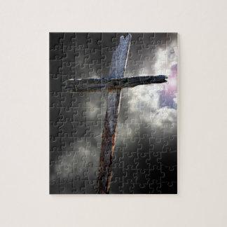 La vieille croix en bois puzzle