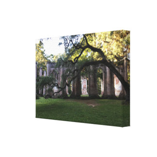 La vieille église de Sheldon ruine la toile étirée