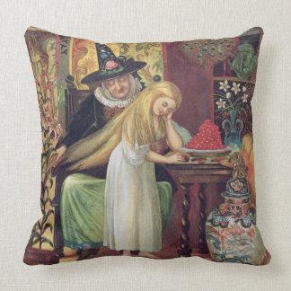 La vieille sorcière peignant les cheveux de Gerda Oreiller
