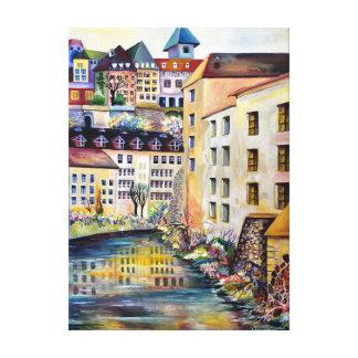 La vieille ville à Stockholm Toile