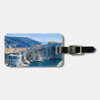 La vieille ville de Dubrovnik Étiquette À Bagage