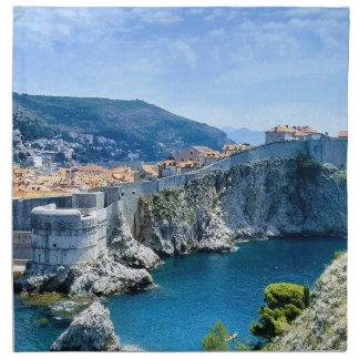 La vieille ville de Dubrovnik Serviettes De Table