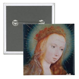La Vierge à la prière Badge Carré 5 Cm