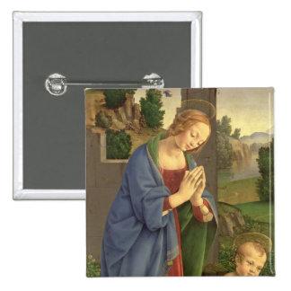 La Vierge adorant l'enfant, 1490-1500 Pin's Avec Agrafe