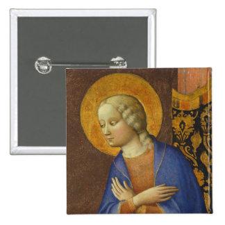 La Vierge Annunciate, C. 1430 (le tempera sur le p Badge Carré 5 Cm