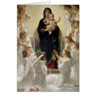 La Vierge avec Angels, 1900 Carte De Vœux