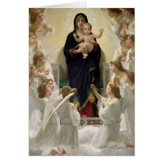 La Vierge avec Angels, 1900 Cartes
