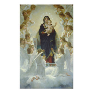 La Vierge avec des anges Regina Angelorum Posters