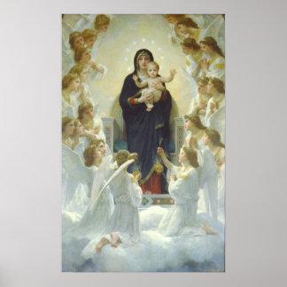 La Vierge avec des anges, Regina Angelorum Posters