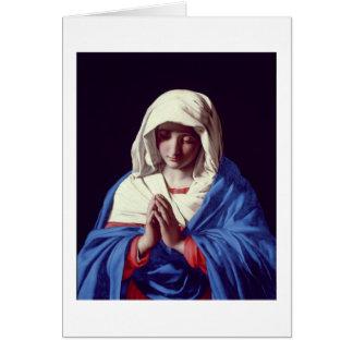 La Vierge dans la prière, 1640-50 (huile sur la Cartes