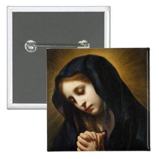 La Vierge de l'annonce, c.1653-55 Badge Carré 5 Cm