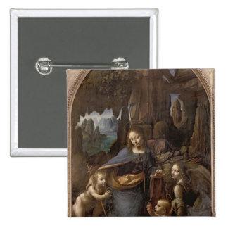 La Vierge des roches, c.1508 Badge Carré 5 Cm