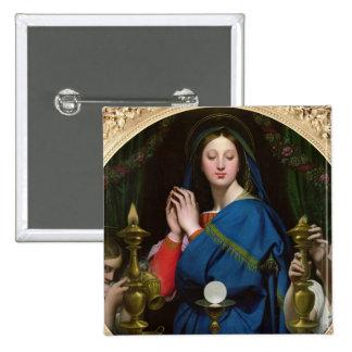 La Vierge du centre serveur, 1854 Badge Carré 5 Cm