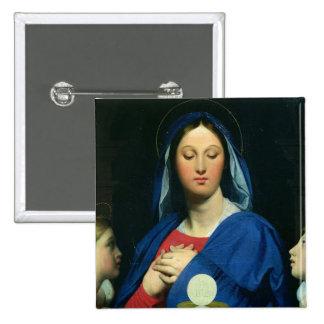 La Vierge du centre serveur, 1866 Badge Carré 5 Cm