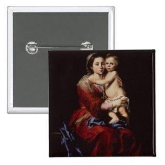 La Vierge du chapelet, c.1650 Badge Carré 5 Cm