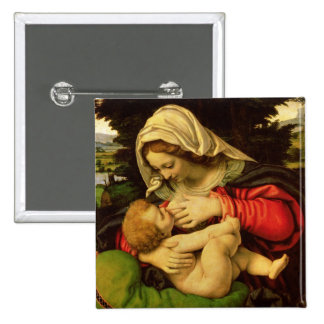 La Vierge du coussin vert, 1507-10 Badge Avec Épingle